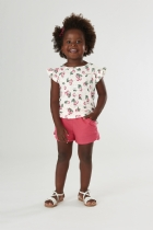 Conjunto Blusa Cotton e Short em Molecotton Cereja - 2 anos - UP42879