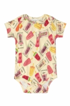 Body M/C em Suedine Estampa Frutas - G - UP42938